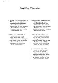 Good King Wenceslas: Für gemischten Chor by folklore