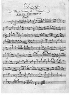 Duo für Violine und Flöte: Duo für Violine und Flöte by Franz Anton Hoffmeister