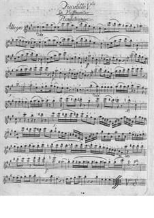 Quartett für Flöte und Streicher Nr.5 in A-Dur: Quartett für Flöte und Streicher Nr.5 in A-Dur by Franz Anton Hoffmeister