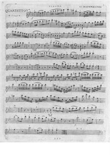 Quartett für Flöte und Streicher Nr.5 in B-Dur: Quartett für Flöte und Streicher Nr.5 in B-Dur by Franz Anton Hoffmeister