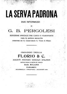 Die Magd als Herrin: Klavierauszug mit Singstimmen by Giovanni Battista Pergolesi