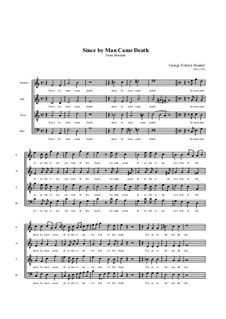 Nr.46 Wie durch einen der Tod: Singpartitur by Georg Friedrich Händel