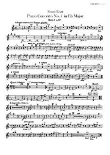 Klavierkonzert Nr.1, S.124: Hörnerstimmen in Es by Franz Liszt