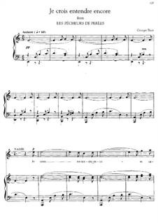 Je crois entendre encore: A Minor by Georges Bizet