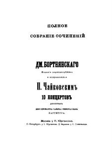 Zehn Konzerte, für zwei Chöre und Klavier: Zehn Konzerte, für zwei Chöre und Klavier by Dmitri Bortnjanski