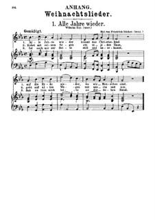 Alle Jahre wieder: Klavierauszug mit Singstimmen by Friedrich Silcher