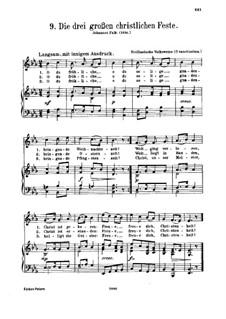 O du fröhliche: Klavierauszug mit Singstimmen by folklore
