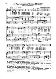 Was bringt der Weihnachtsmann: Für Stimme und Klavier by folklore
