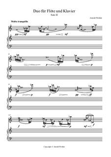 Duo für Flöte und Klavier in 4 Sätzen: II. Molto tranquillo by Dr. Arnold Wohler