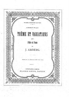 Thema und die Variationen: Thema und Variationen by Johan Amberg