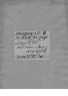 Triosonate für Violine, Flöte und Basso Continuo, QV 2:34: Triosonate für Violine, Flöte und Basso Continuo by Johann Joachim Quantz