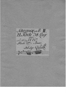 Triosonate für Violine, Flöte und Basso Continuo, QV 2:35: Triosonate für Violine, Flöte und Basso Continuo by Johann Joachim Quantz