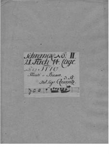 Triosonate für zwei Flöten und Basso Continuo in c-Moll, QV 2:3: Stimmen by Johann Joachim Quantz