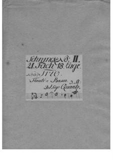 Triosonate für zwei Flöten und Basso Continuo in e-Moll, QV 2:Anh.12a: Triosonate für zwei Flöten und Basso Continuo in e-Moll by Johann Joachim Quantz