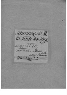 Triosonate für zwei Flöten und Basso Continuo in G-Dur, QV 2:Anh.23: Triosonate für zwei Flöten und Basso Continuo in G-Dur by Johann Joachim Quantz