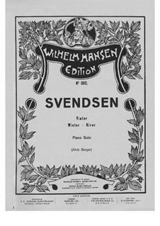Foraaret kommer, Op.33: Vinter (Winter) für Klavier by Johan Svendsen