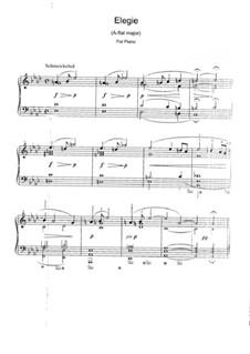 Elegie in As-Dur, WWV 93: Elegie in As-Dur by Richard Wagner