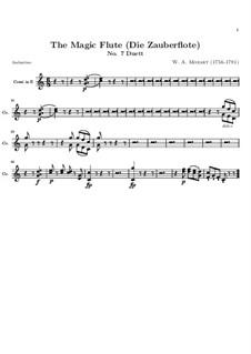 Bei Männern welche Liebe fühlen: Hornstimme in E by Wolfgang Amadeus Mozart
