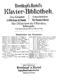 Eine Symphonie zu Dante's Divina Commedia, für zwei Klaviere, vierhändig, S.648: Eine Symphonie zu Dante's Divina Commedia, für zwei Klaviere, vierhändig by Franz Liszt
