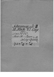 Triosonate für Flöte, Oboe und Basso Continuo, QV 2:Anh.5: Triosonate für Flöte, Oboe und Basso Continuo by Johann Joachim Quantz