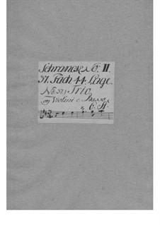 Triosonate für zwei Violinen und Basso Continuo in D-Dur, TWV 42:D16: Stimmen by Georg Philipp Telemann