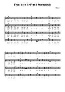 Freu' dich Erd' und Sternenzelt: Für Chor by folklore