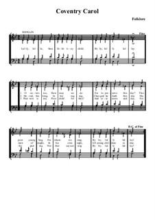 Coventry Carol: Für gemischten Chor by folklore