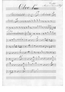 Der Schulmeister. Kantate, TWV 20:57: Blasinstrumentestimmen by Georg Philipp Telemann