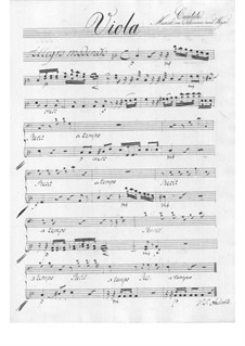 Der Schulmeister. Kantate, TWV 20:57: Violastimme by Georg Philipp Telemann