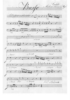 Der Schulmeister. Kantate, TWV 20:57: Basso Continuo Stimme by Georg Philipp Telemann