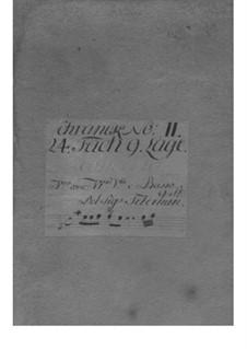 Konzert für Violine, Streicher und Basso Continuo in a-Moll, TWV 51:a2: Stimmen by Georg Philipp Telemann