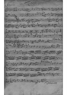 Triosonate für Violine, Flöte und Basso Continuo in e-Moll, TWV 42:e1: Stimmen by Georg Philipp Telemann