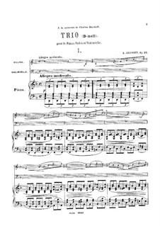 Klaviertrio Nr.1 in d-Moll, Op.32: Vollpartitur, Stimmen by Anton Arenski