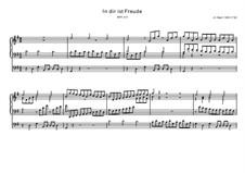 In dir ist Freude, BWV 615: In dir ist Freude by Johann Sebastian Bach