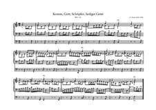 Komm, Gott Schöpfer, heiliger Geist, BWV 631: Komm, Gott Schöpfer, heiliger Geist by Johann Sebastian Bach
