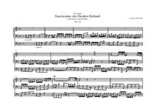Choralvorspiele III (Leipziger Choräle): Nun komm, der Heiden Heiland, BWV 660 by Johann Sebastian Bach