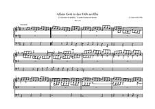 Choralvorspiele III (Leipziger Choräle): Allein Gott in der Höh' sei Ehr', BWV 663 by Johann Sebastian Bach