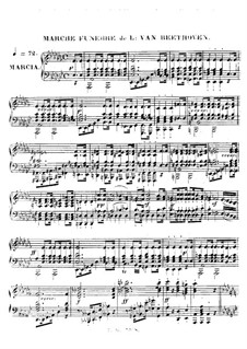Funeral March on the Death of a Hero: Für Klavier by Ludwig van Beethoven