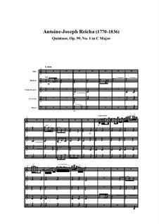 Holzbläserquintett in C-Dur, Op.99 No.1: Teil I by Anton Reicha