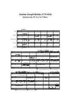 Holzbläserquintett in f-Moll, Op.99 No.2: Teil I by Anton Reicha