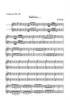 Wir danken dir, Gott, wir danken dir, BWV 29: Sinfonia – Violinen- und Oboenstimme by Johann Sebastian Bach