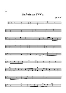 Ich hatte viel Bekümmernis, BWV 21: Sinfonia – Bratschenstimme by Johann Sebastian Bach