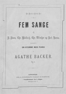 Fünf Gesänge, Op.2: Fünf Lieder by Agathe Backer Grøndahl