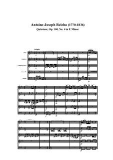 Holzbläserquintett in e-Moll, Op.100 No.4: Teil I by Anton Reicha