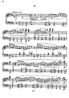 Sonate für Klavier Nr.2, TH 123 Op.80: Teil IV by Pjotr Tschaikowski