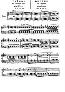 Wesendonck Lieder, WWV 91: Nr.5 Träume, für Klavier by Richard Wagner