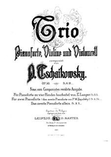 Klaviertrio in a-Moll 'À la mémoire d'un grand artiste', TH 117 Op.50: Bearbeitung für zwei Klaviere, vierhändig – Klavierstimme II by Pjotr Tschaikowski