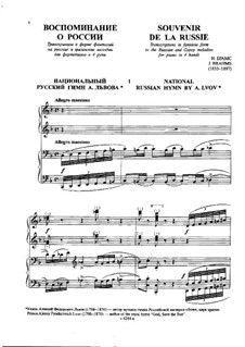 Souvenir de la Russie, Op.151: Vollsammlung by Johannes Brahms
