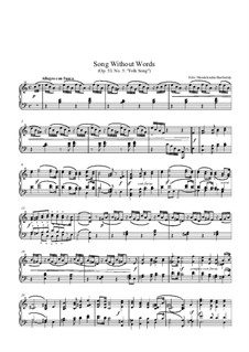 Lieder ohne Worte, Op.53: Nr.5 Allegro con fuoco (Volkslied) by Felix Mendelssohn-Bartholdy