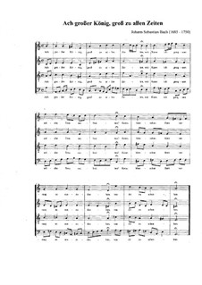 Johannes-Passion, BWV 245: Teil II, Nr.27, Choral 'Ach grosser König' by Johann Sebastian Bach